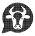 cow message balloon halftone icon