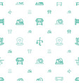 crib icons pattern seamless white background vector image vector image