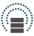 Database Sphere Shield Toolbar Icon vector image vector image