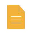file glyph color icon vector image