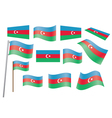 flag of Azerbaijan vector image