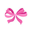 flat icon of cute bright pink bow vector image