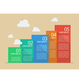 flat style five steps infographic vector image