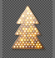 glitter gold new year tree template for new year vector image vector image