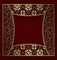 golden cover background patterned frame vector image vector image