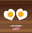 good morning concept breakfast fried chicken egg vector image