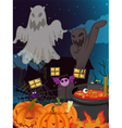 halloween and ghosts vector image vector image