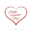 Happy Valentine s Day inside red heart vector image
