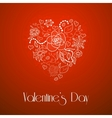 Happy Valentines Day floral doodle heart vector image vector image