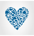 Heart of fishes vector | Price: 1 Credit (USD $1)