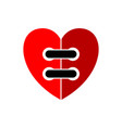 heart wired sign emblem isolated on white vector image