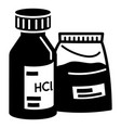 hydrochloric acid icon simple style vector image