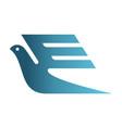letter e bird express logo icon vector image