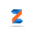 Letter Z website logo design element vector image vector image