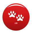 lion step icon red vector image vector image