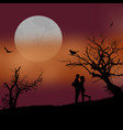 lovers on beautiful sunset vector image
