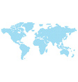 map of the world consisting of blue characters vector image vector image