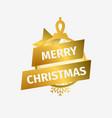 merry christmas christmas ball with star and vector image vector image