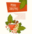 merry christmas symbolic images of new year vector image vector image