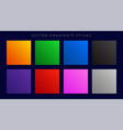 modern bright colorful gradients set vector image vector image