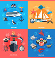 nautical concept icons set vector image vector image