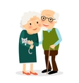 Old couple Grandmother and grandfather vector image