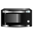 realistic microwave oven steel vector image