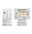 realistic refrigerator cabinet collection vector image vector image