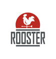 rooster logo design vector image vector image