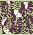 seamless floral pattern with wild flowers vector image vector image