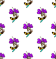 seamless pattern with bee - 5 vector image