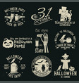 set halloween celebration collection vector image vector image