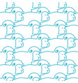 sheep pattern ewe ornament flock of sheeps farm vector image vector image