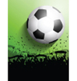 Silhouette of a crowd on a football soccer vector image vector image