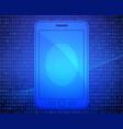 smartphone with fingerprint vector image