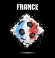soccer ball in the color of france vector image vector image