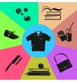 Sport wear and accessories Colored sections vector image vector image