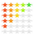 stars feedback emoticon bar vector image vector image