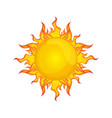 sun isolated summer icon design vector image