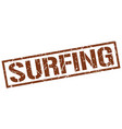 surfing stamp vector image vector image