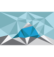 Triangle landscape with mountain polygon art vector image vector image