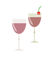 Two glass of cocktail vector image vector image