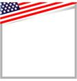 usa flag corner frame border vector image vector image