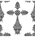 vintage religious crosses in black and white vector image vector image