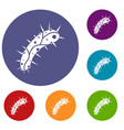 virus icons set vector image vector image