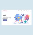 web site gradient design template sport vector image vector image