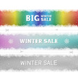 winter sale snow pattern color template vector image vector image