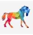 Horse geometric shapes vector image