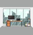 office workspace design interior in flat vector image
