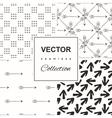 set of four gray and yellow chevron patterns and vector image
